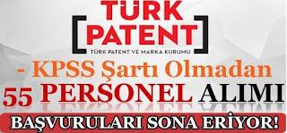 Türk Patent Kurumu 55 Personel Alımı