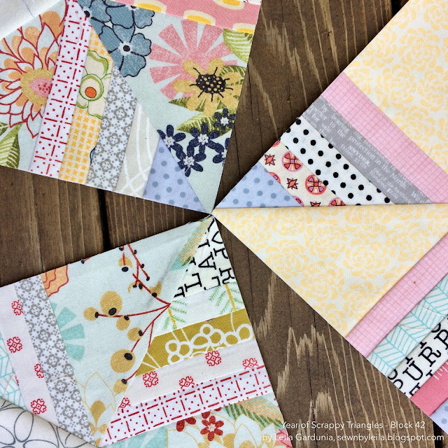 "scrappy 6"" foundation paper pieced quilt blocks, perfect for scraps and leftover fabric"