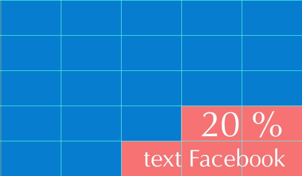 Text hình ảnh không quá 20% trong quảng cáo Facebook Marketing