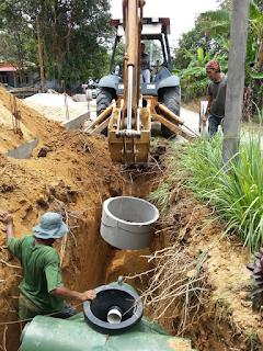 Rumah Idaman : Kerja Menanam tangki septik dan Kerek Telaga