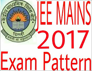 JEE Main Exam Pattern 2017