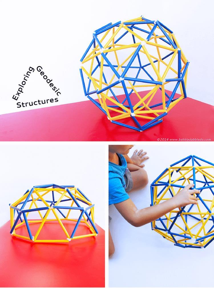 esfera de pajitas diy