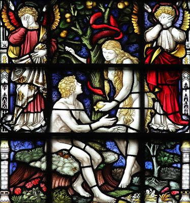 Imagem de Adão e Eva pegando o fruto proibido, vitral, #1