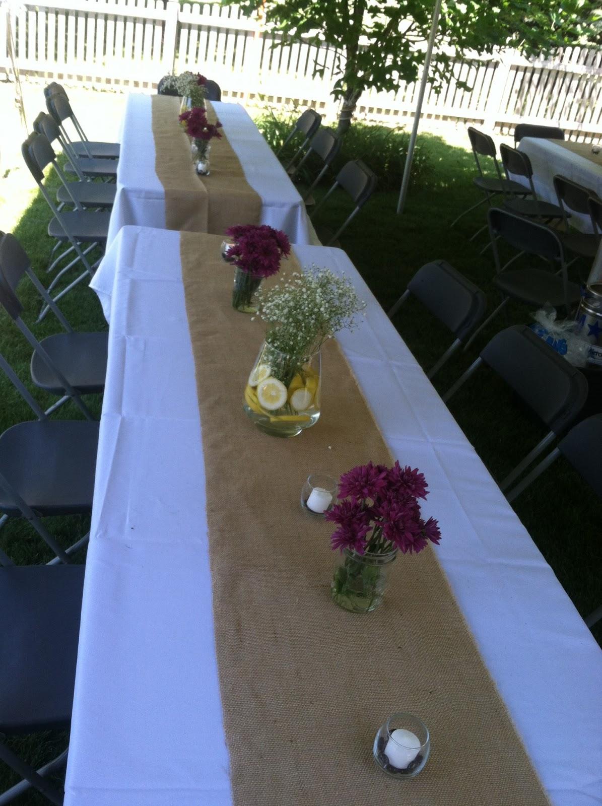Backyard BBQ Wedding Reception on Backyard Table Decor id=80269