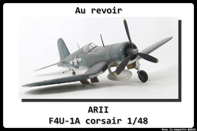 Maquette du F4U-1A Corsair d'ARII au 1/48.