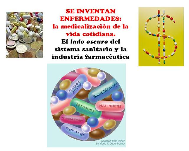 Resultado de imagen de Los laboratorios farmacéuticos inventan enfermedades