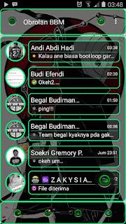 BBM MOD v3.0.0.18 Transparan Green Line Agustus 2016