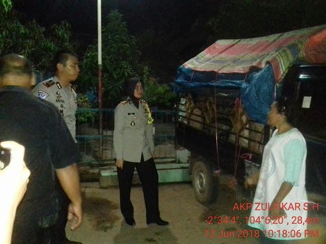 Kapolres Muba Pantau Pos Pengamanan Di Jalintim Sumatera