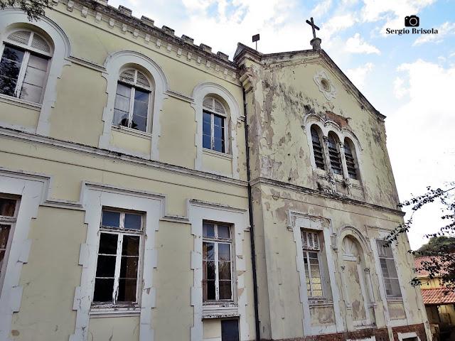 Vista da fachada do antigo Noviciado Nossa Senhora das Graças Irmãs Salesianas - Ipiranga - São Paulo