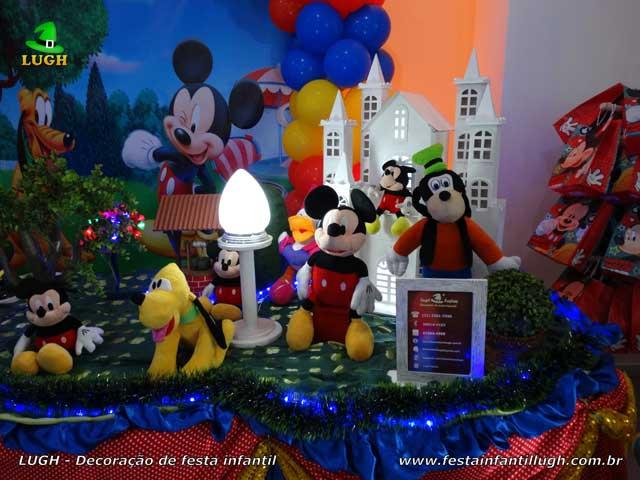 Decoração infantil tema Mickey Mouse - Mesa temática