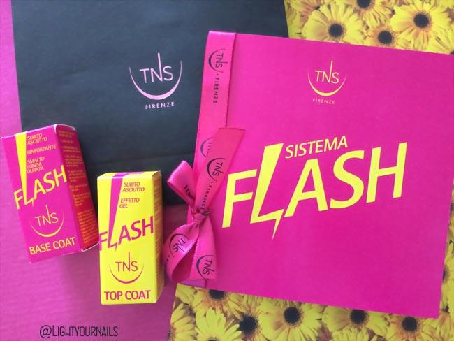 Sistema Flash TNS Firenze: base unghie rinforzante e sigillante effetto gel asciugatura rapida