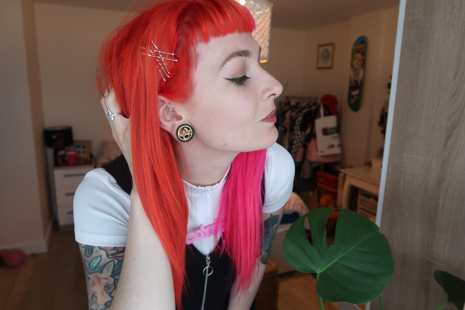 Alternative Fashion Blogger Foxxtailz - Organic Colour Systems
