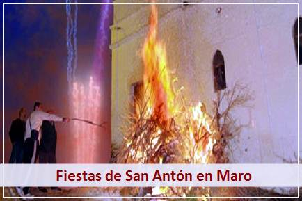 Podrá disfrutar de las tradicionales Fiestas de San Anton en Maro
