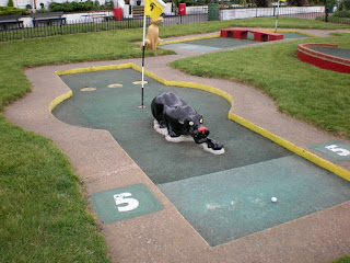 Crazy Golf at the Pleasure Gardens in Great Yarmouth