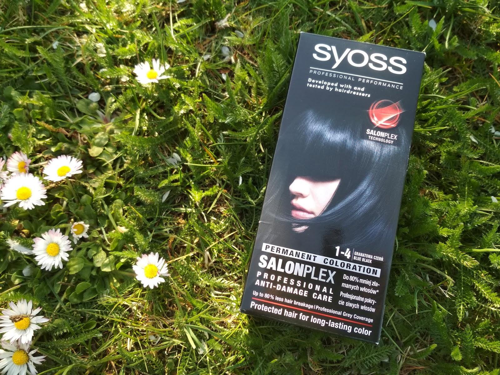 Kosmetyczne nowości kwietnia 2019, co nowego, haul kosmetyczny, Farba SYOSS SalonPlex 1-4 Granatowa Czerń