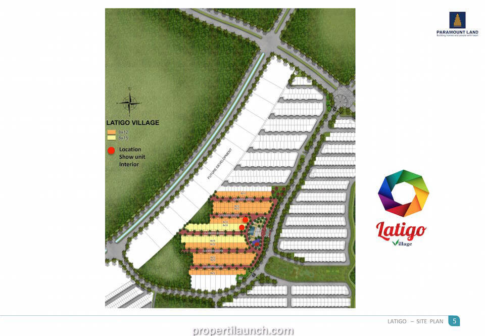 Site Plan Cluster Latigo Village