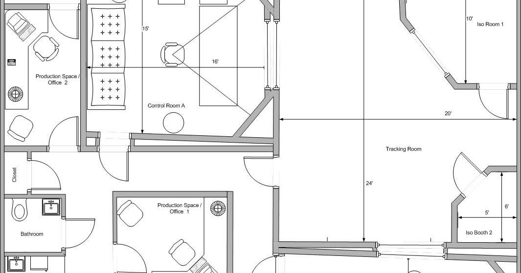 My strode studio project: A studio layout diagram