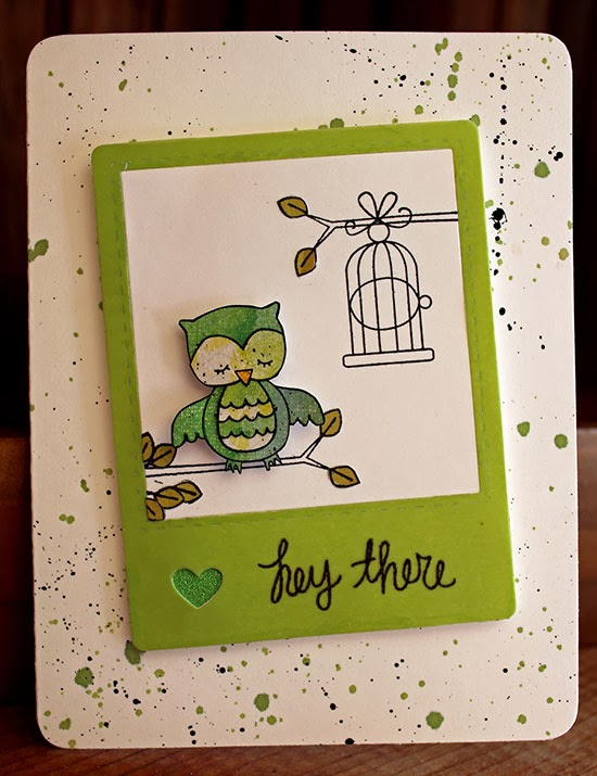 owl card by Larissa Heskett for Newton's Nook Designs Inky Paws Challenge 7