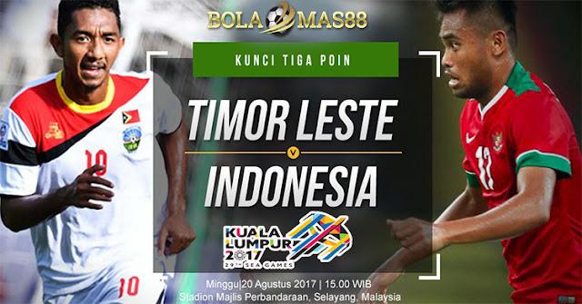 Prediksi Skor Antara Timor Leste vs Indonesia Tanggal 20 Agustus 2017
