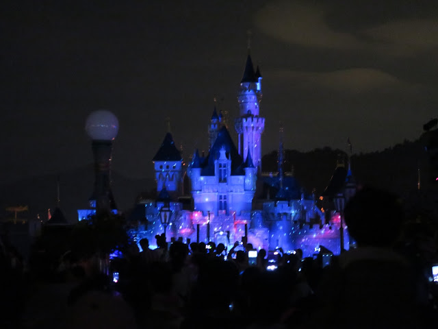 Hong Kong Disneyland ; Halloween Parade Castle view