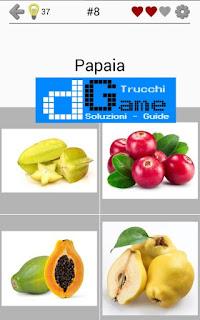 Soluzioni Frutti, verdure e noce livello 8
