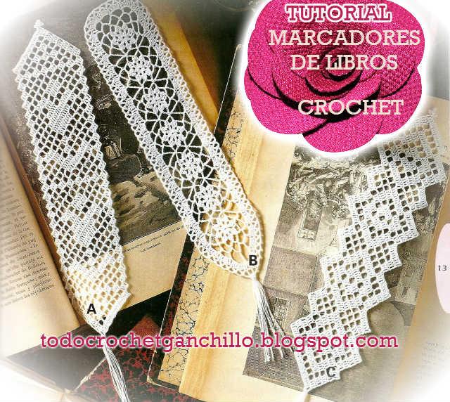 tutorial de marcadores de libros tejidos al crochet