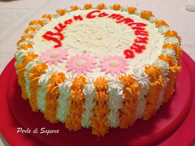 torta di compleanno alla crema rocher e crema al cocco