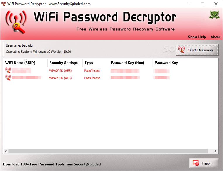 تحميل برنامج معرفة كلمة سر الواي فاي WiFi Password Decryptor