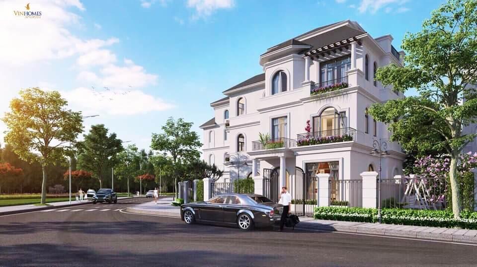 Biệt thự đơn lập Vinhomes Green Villas căn góc