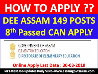 How to apply in DEE Assam Grade IV Recruitment 2019