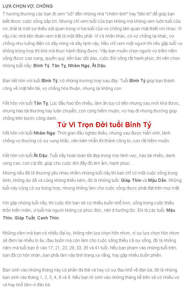 Tu vi Binh Ty Tron Doi