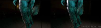 Oculus Go и VR изображение сладострастного хвоста Суккуба