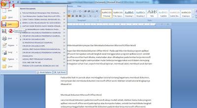 cara membuka dan menyimpan dokumen word