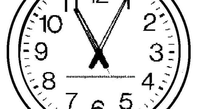 Mewarnai Gambar Jam Dinding | Mewarnai Gambar