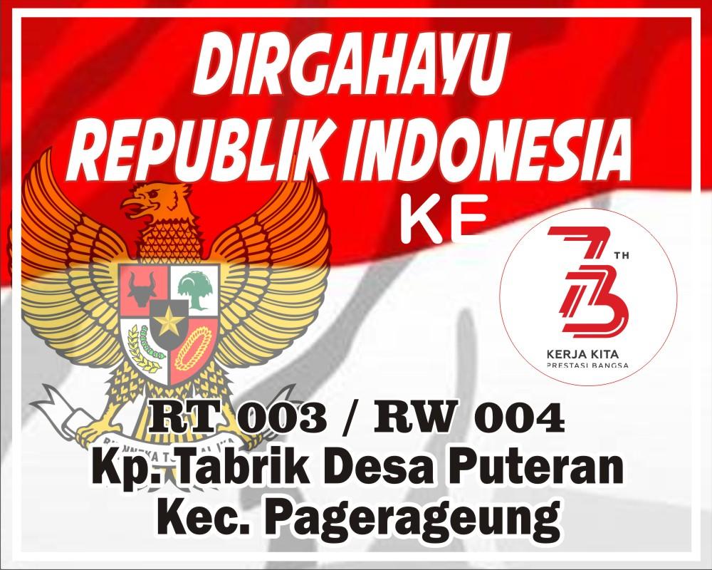 Download Spanduk Dirgahayu RI Ke-73.cdr