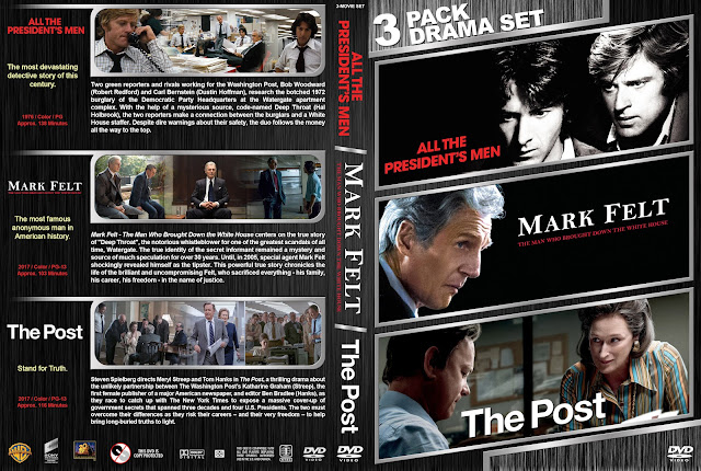 All the President's Men / Mark Felt / The Post Triple Feature DVD Cover