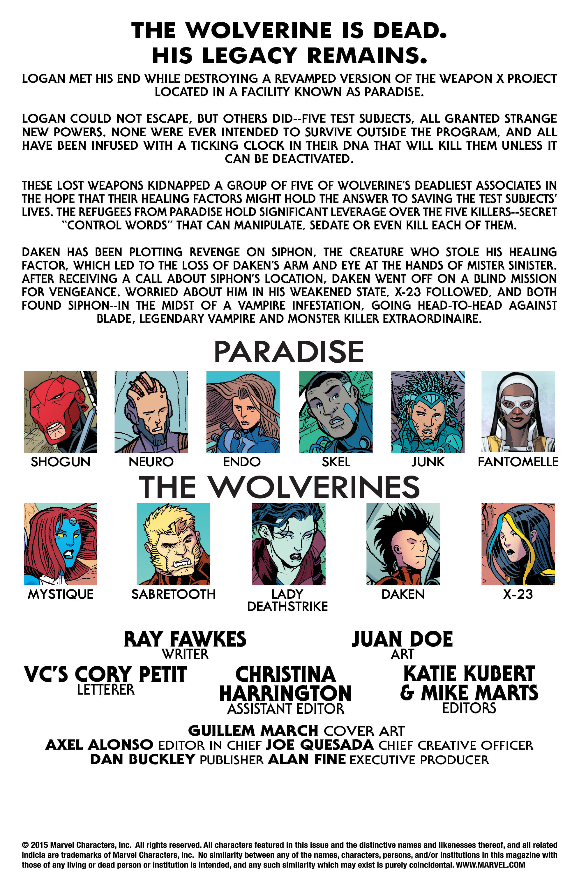 Read online Wolverines comic -  Issue #15 - 2