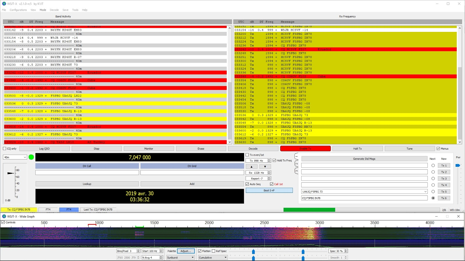 FT4 : wsjtx-2.1.0-rc5 disponible FT4