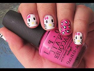 Gambar Nail Art Hello Kitty yang Cantik 9