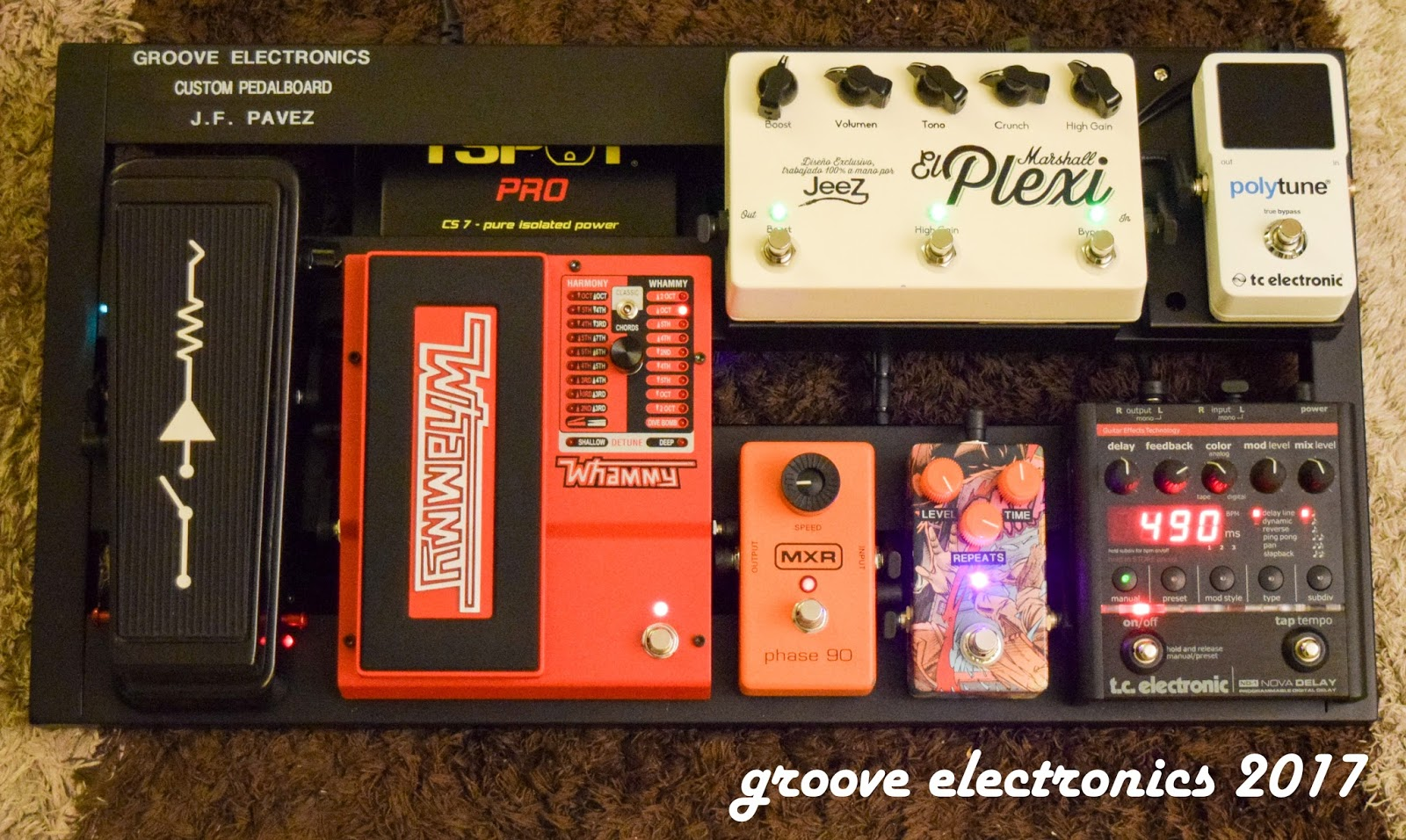 Groove Electronics Chile Pedalboard Juan Francisco Pavez
