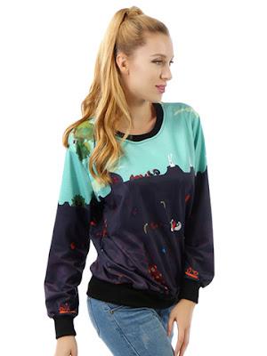 Sweater Print Terbaru Untuk Anak Muda Masa Kini