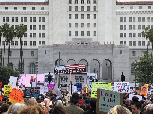 March For Our Lives LA America has Gunorrhea sign