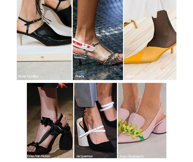 Opciones de moda:tacones finos y bajos, con tacones redondos