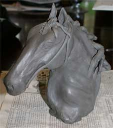 How to build a horse sculpture, clay sculpture tutorial, clay sculpture demonstration