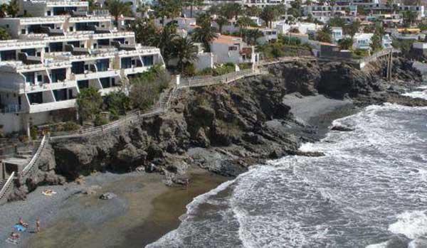 Playa Pirata, Gran Canaria, donde ha fallecido un hombre ahogado, 18 septiembre