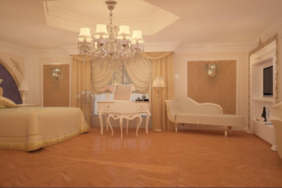 Amenajari interioare case clasice - Amenajare interiara dormitor clasic Constanta