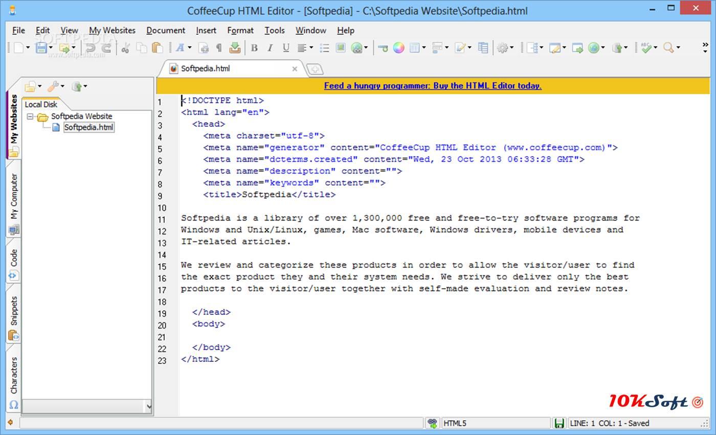 CoffeeCup HTML Editor Latest Version Free Download