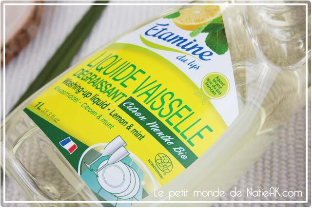 Etamine du lys  Liquide vaisselle citron et menthe bio
