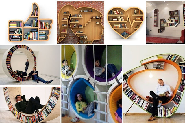 13 Ways To Use Books Library For Decorating Interior Home