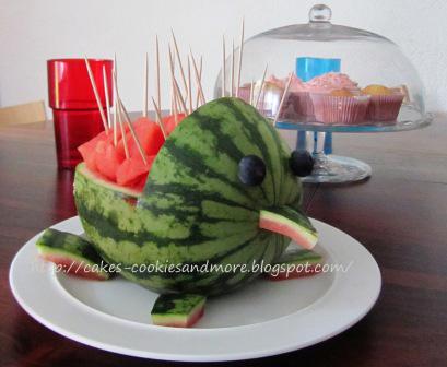 Igel aus einer Wassermelone